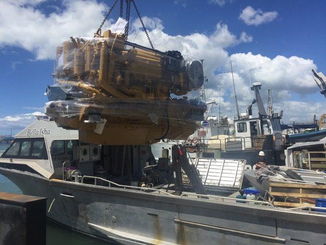 boat engine shipping