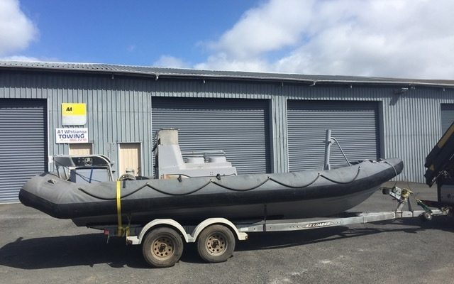 7.5M Rigid Hull Inflatable Workboat on the trailer