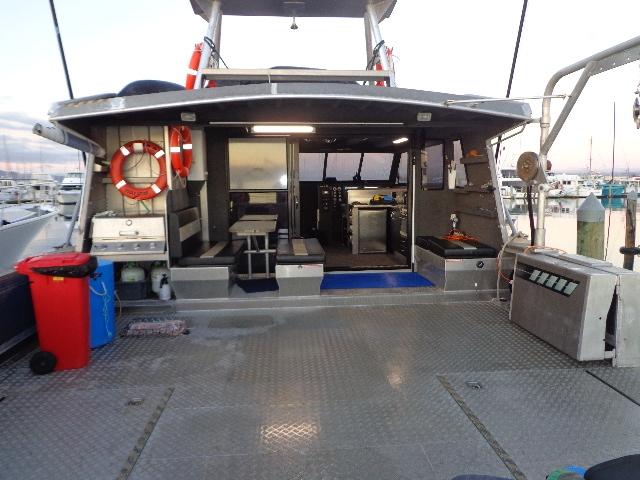 Deck of the Karen D Workboat