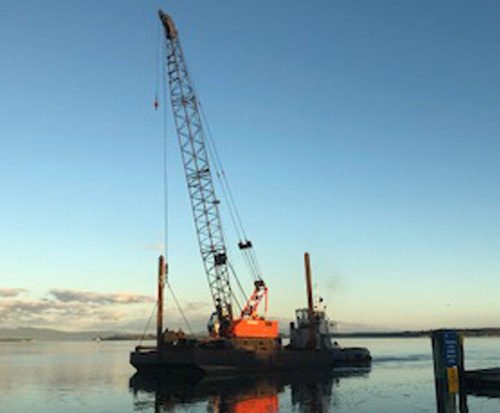 workboat with crane
