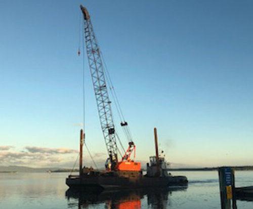 workboat with crane