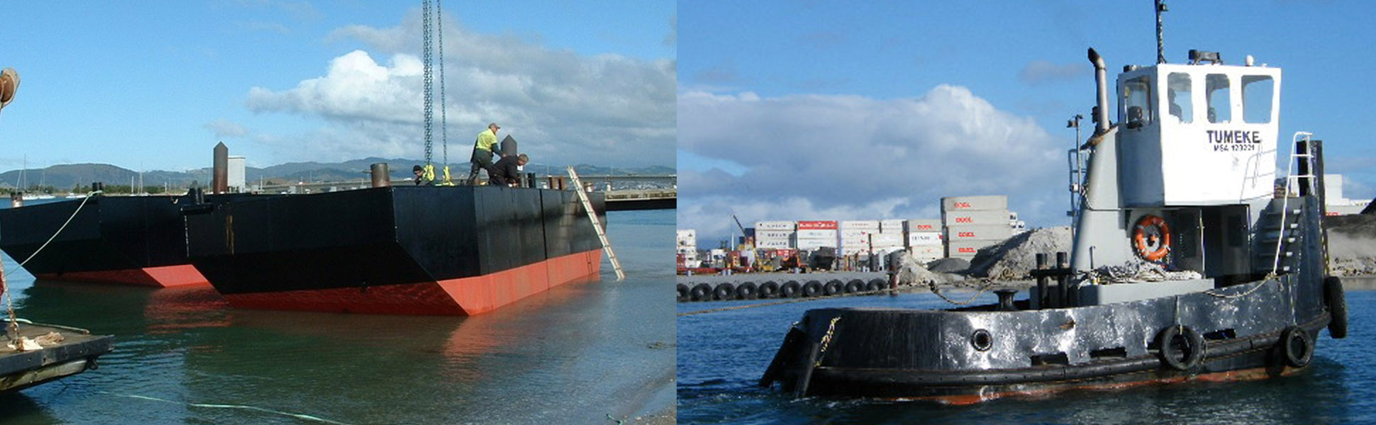 workboats tugs at sea