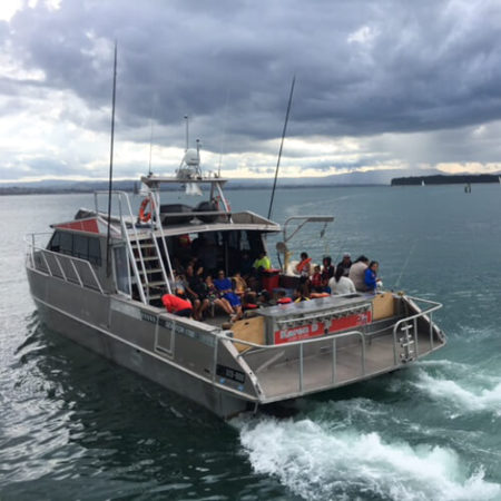 Marine Contractors pacific7 aluminium workboat on sea