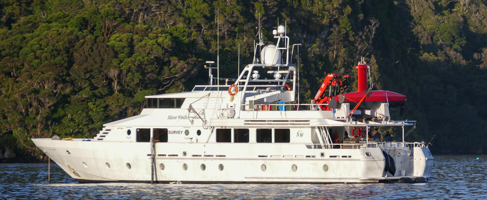 workboat silent wings 32m luxury boat