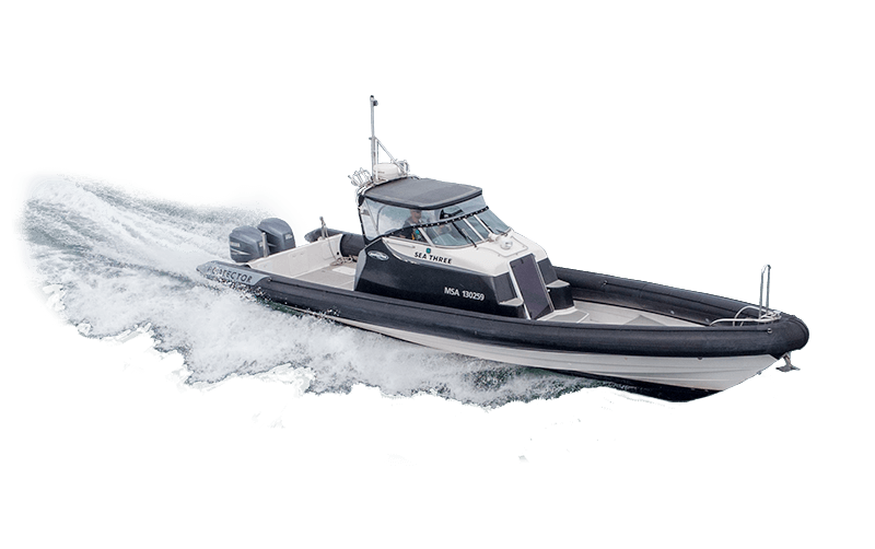 Pacific7 Offshore 12M RHIB work boat to hire