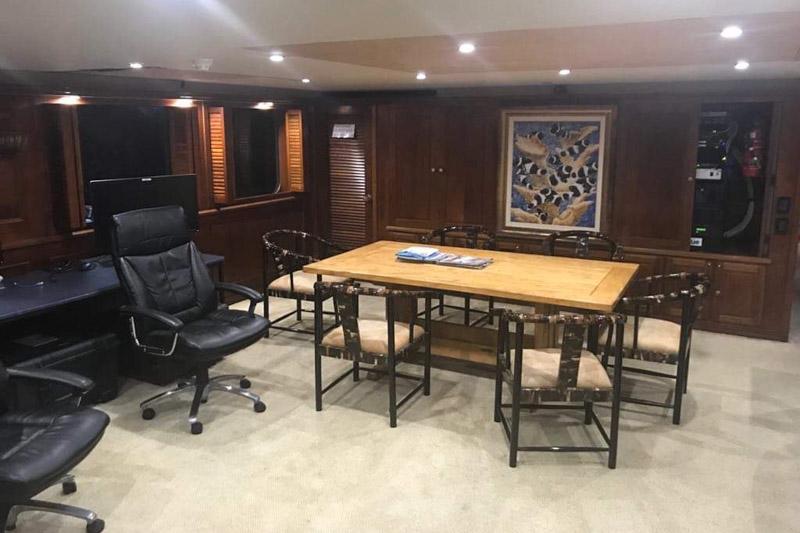 Pacific7 workboat accommodation salon