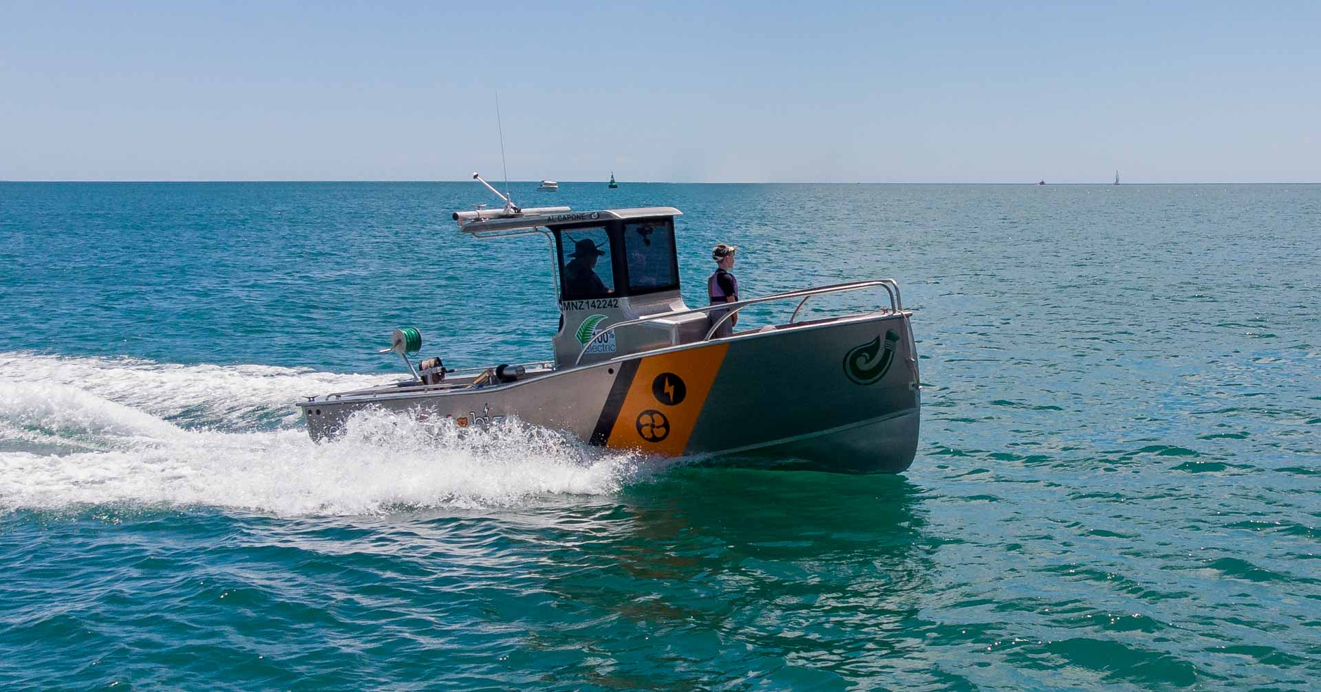 Pacific7 electric work boat to hire new zealand