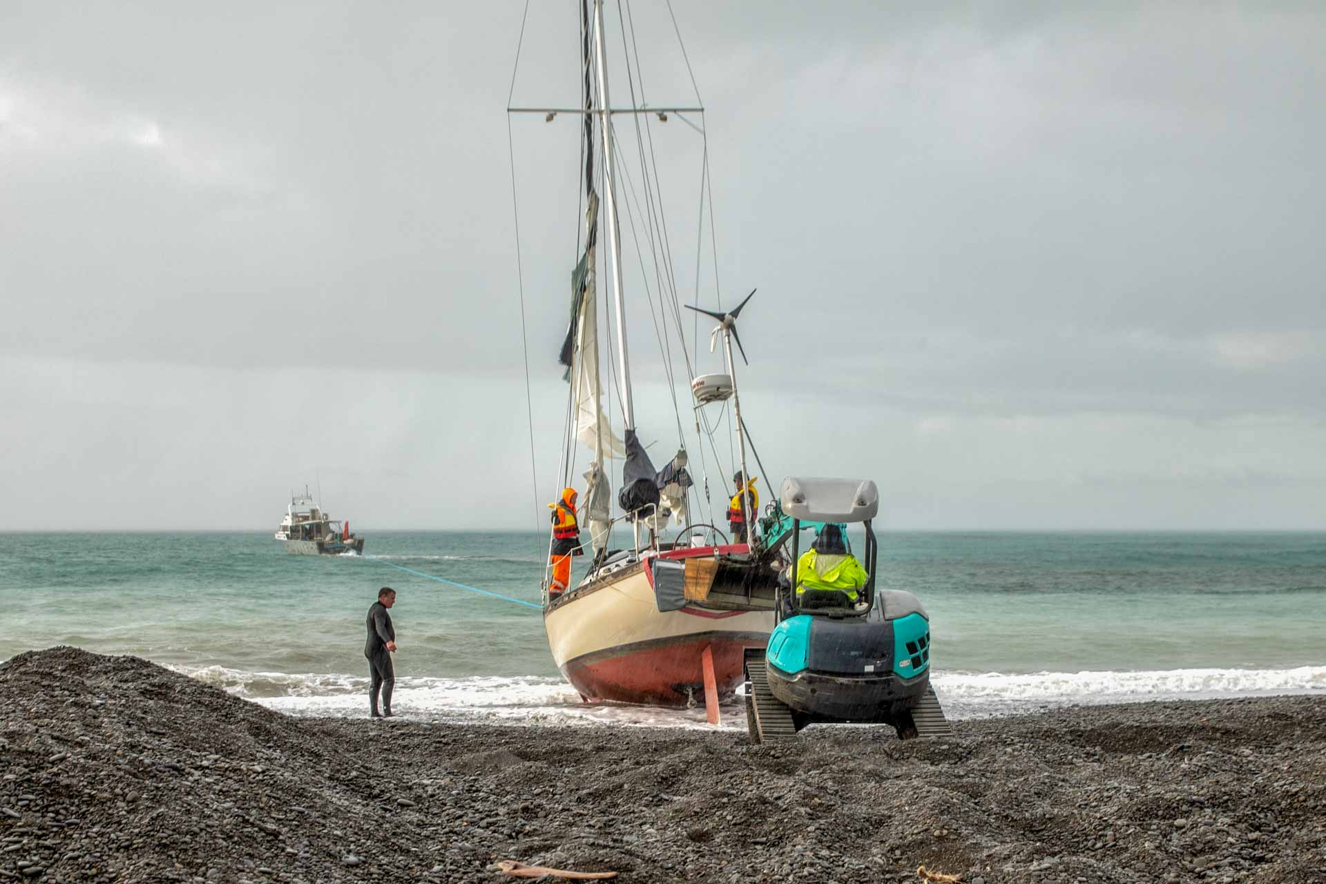Pacific7 yacht salvage new zealand